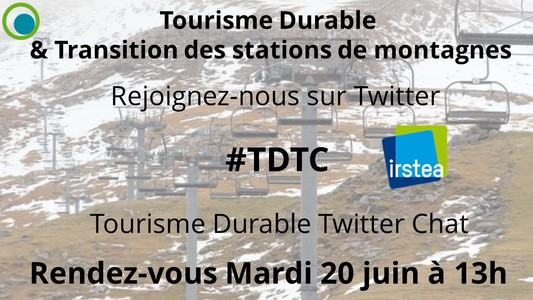 "Twitter Chat #TDTC ""Tourisme Durable & Transition des Statio..."